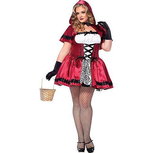 Adult Gothic Red Riding Hood Costume Plus Size Image #1