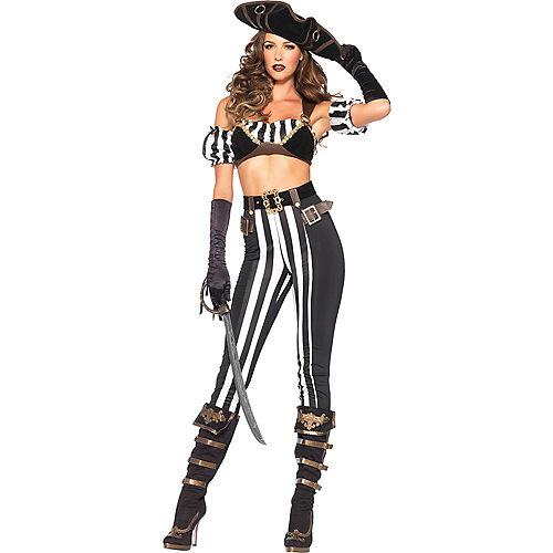 Adult Black Beauty Pirate Costume Image #1