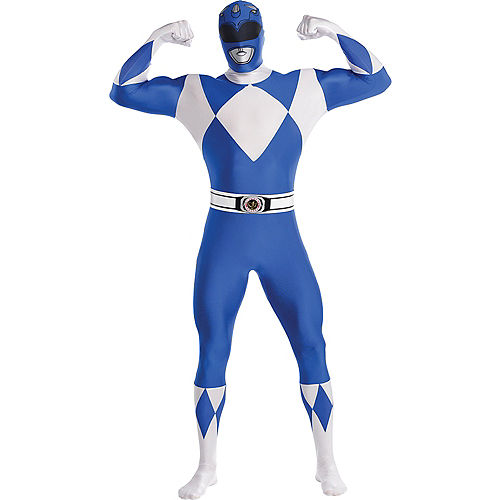 Adult Blue Power Ranger Partysuit - Mighty Morphin Power Rangers Image #1