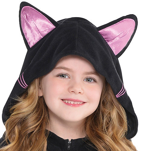 Toddler Girls Zipster Black Cat One Piece Costume Image #2