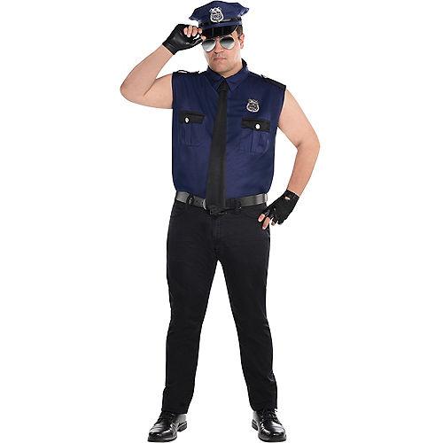 Adult Under Arrest Cop Costume Plus Size Image #1