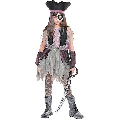 Girls Haunted Pirate Costume Image #1