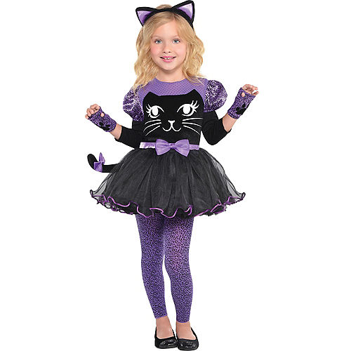 Girls Miss Meow Cat Costume Image #1