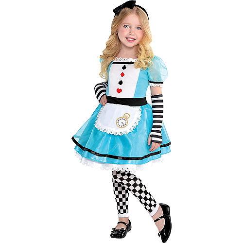 Girls Wonderful Alice Costume Image #1