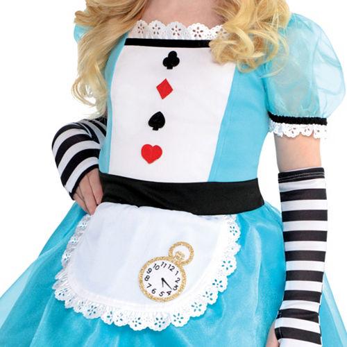 Girls Wonderful Alice Costume Image #5