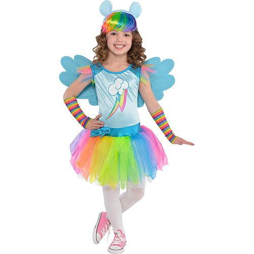 Toddler Girls Rainbow Dash Costume - My Little Pony Image #1