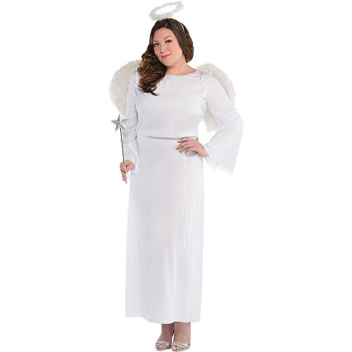 Adult Heaven Sent Angel Costume Plus Size Image #1