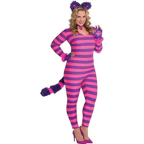 Adult Lady Cheshire Kitty Cat Costume Plus Size Image #1