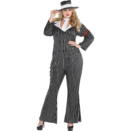 Adult Mob Wife Costume Plus Size Image #1