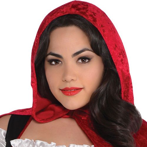 Adult Sassy Red Riding Hood Costume Plus Size Image #2
