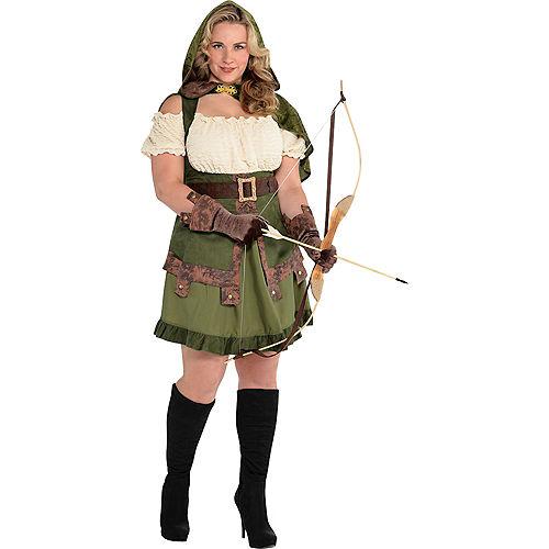 Adult Lady Robin Hood Costume Plus Size Image #1
