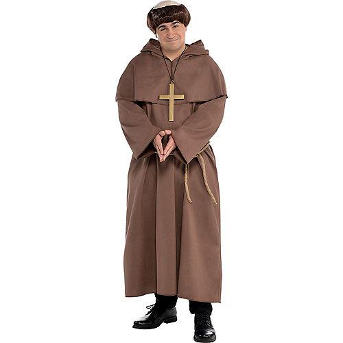 Adult Plus Size Friar Costume Image #1