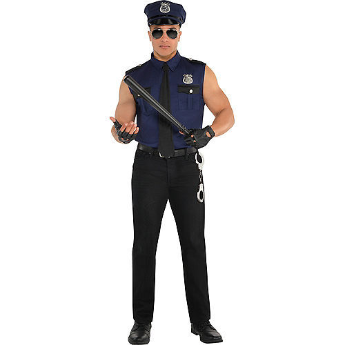 Adult Under Arrest Cop Costume Image #1