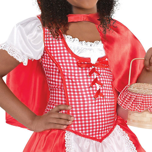 Toddler Girls Classic Red Riding Hood Costume Image #3