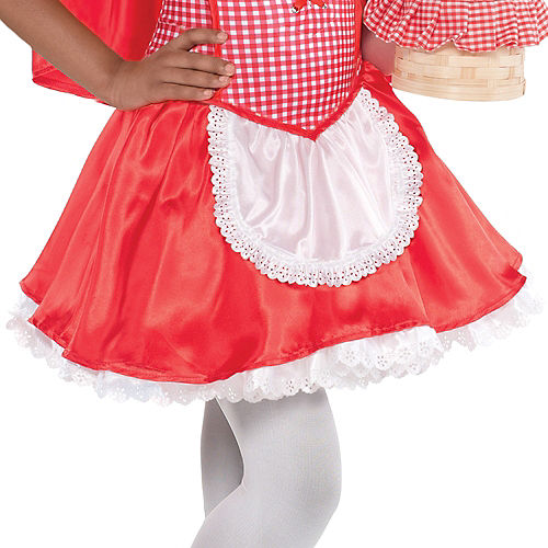 Toddler Girls Classic Red Riding Hood Costume Image #4