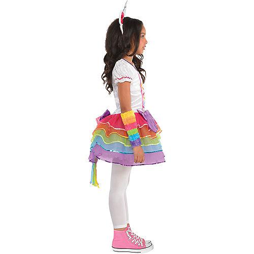 Toddler Girls Rainbow Unicorn Costume Image #2