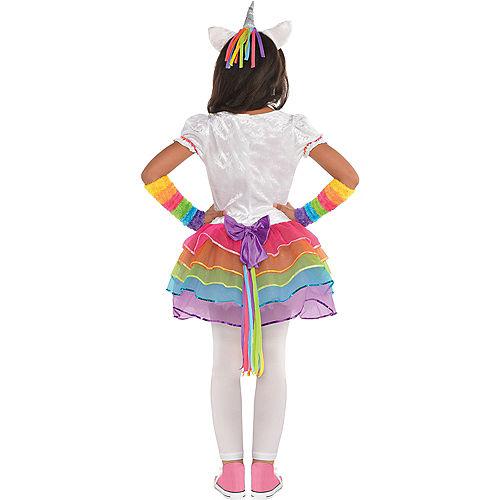 Toddler Girls Rainbow Unicorn Costume Image #3