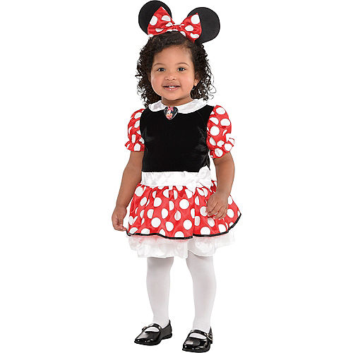 Baby Red Minnie Mouse Costume Image #1