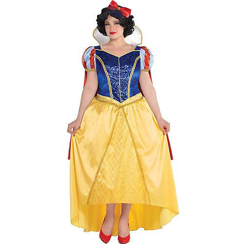 Adult Snow White Costume Couture Plus Size - Snow White & the Seven Dwarfs Image #1