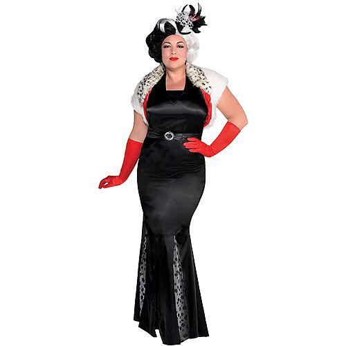 Adult Cruella De Vil Costume Couture Plus Size - 101 Dalmatians Image #1