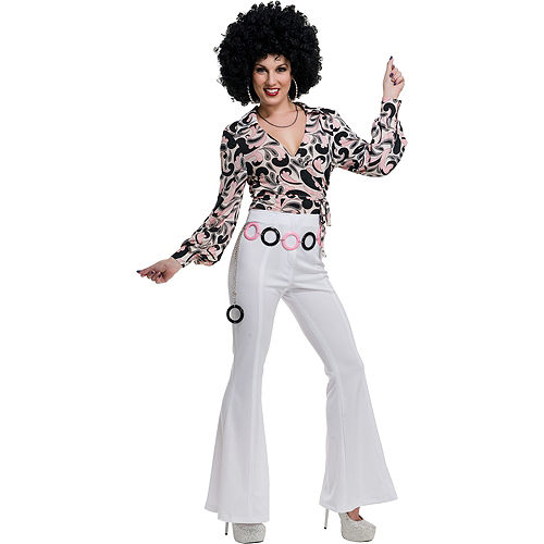 White 70s Disco Pants Image #2