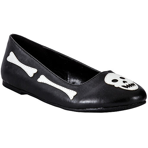 Child Skull & Crossbones Flat Shoes Image #1