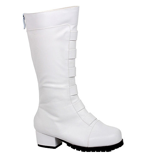 Child Superhero White Knee High Boots Image #1