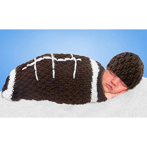 Baby Crochet Cocoon Football Costume Image #1