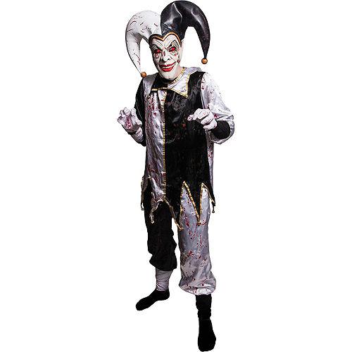 Adult Light-Up Evil Harlequin Jester Costume Image #1