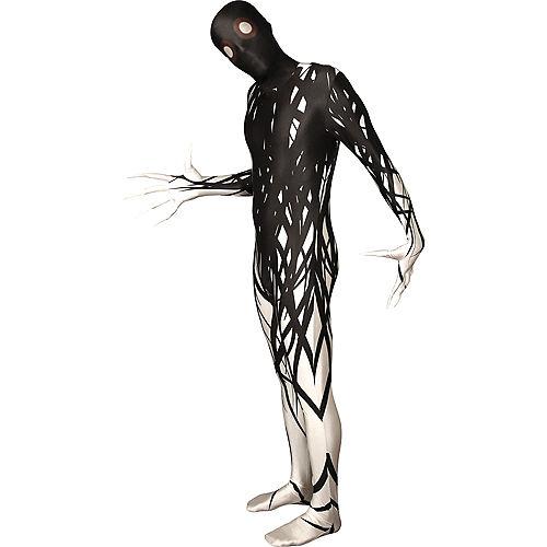 Adult Black & White Horror Zalgo Morphsuit Image #1