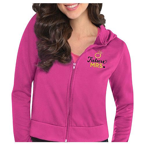 Pink Future Mrs. Zip-Up Hoodie - Sassy Bride Image #1