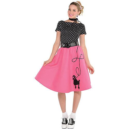 Adult 50s Flair Poodle Skirt Costume Image #1