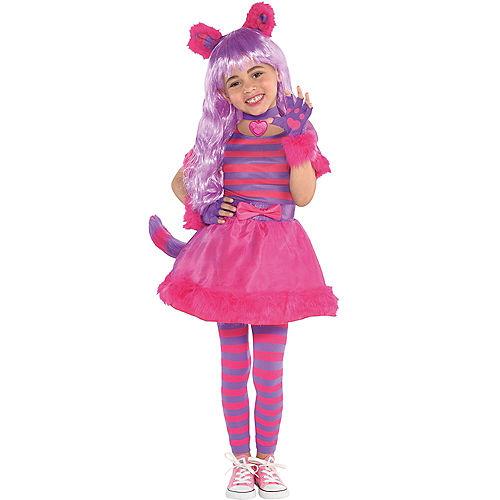 Toddler Girls Cheshire Cat Costume Image #1