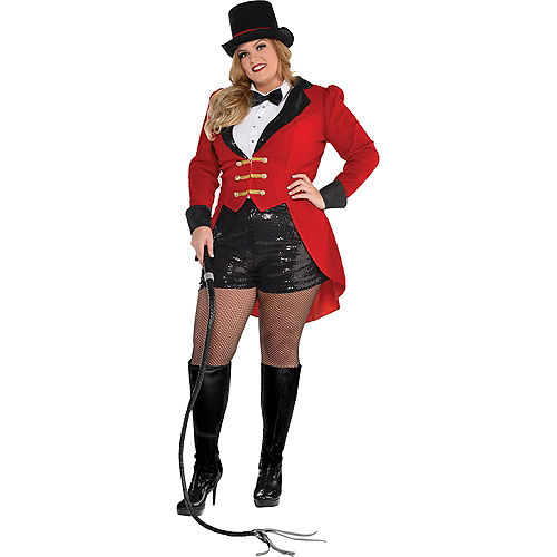 Nav Item for Adult Circus Ringmaster Costume Plus Size Image #1