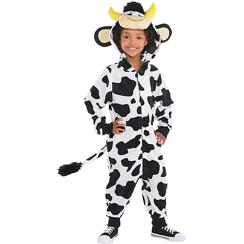 Child Zipster Cow One Piece Costume Image #2