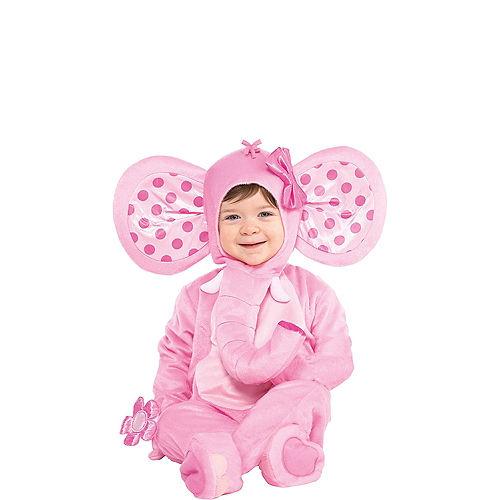 Baby Pink Elephant Costume Image #1