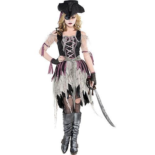 Adult Haunted Pirate Costume Image #1