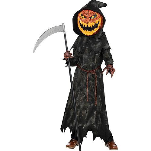 Boys Jack-o'-Lantern Reaper Costume Image #1