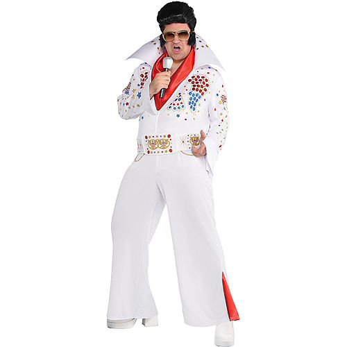 Adult King of Rock 'n' Roll Costume Plus Size Image #1