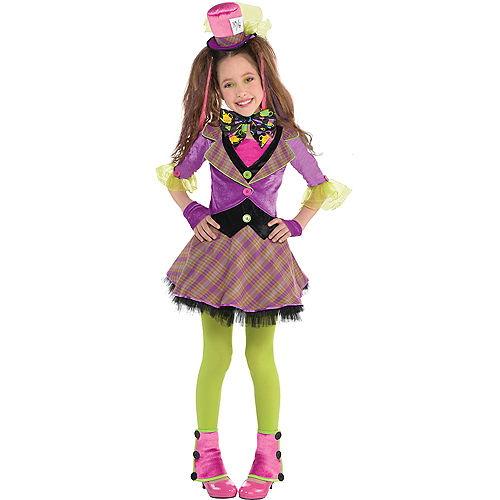 Girls Mad Hatter Costume Image #1