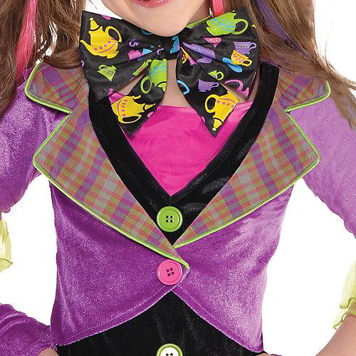 Girls Mad Hatter Costume Image #3