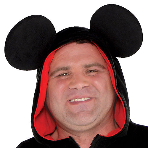 Adult Zipster Mickey Mouse One Piece Costume Plus Size Image #2