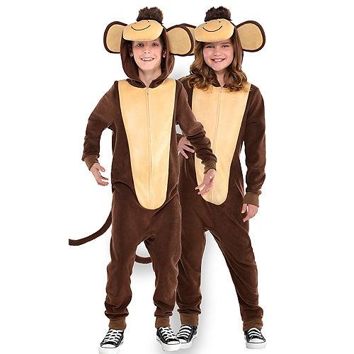 Child Zipster Monkey One Piece Costume Image #1