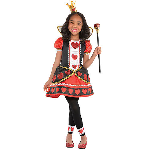 Girls Queen of Hearts Costume Image #1