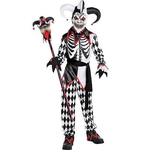 Boys Sinister Jester Costume Image #1