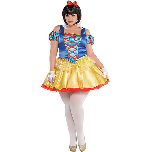 Adult Snow White Costume Plus Size Image #1