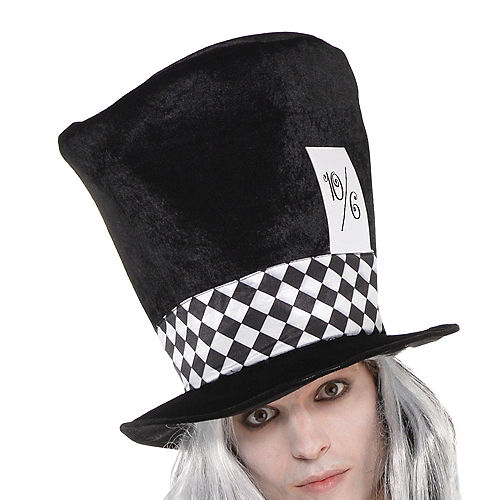 Adult Black & White Mad Hatter Costume Image #2