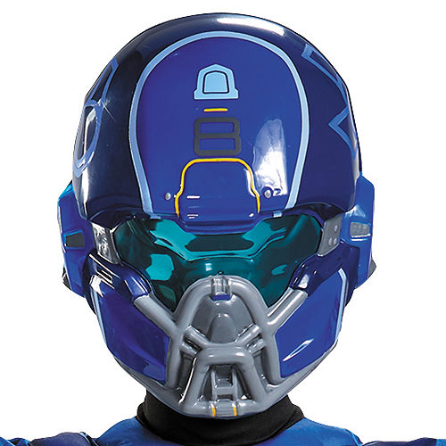 Boys Blue Spartan Muscle Costume - Halo Image #2
