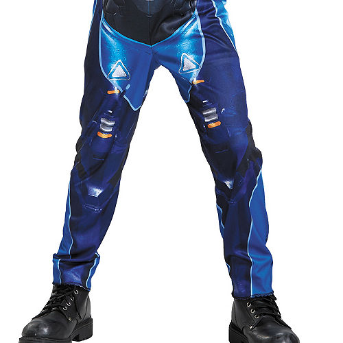 Boys Blue Spartan Muscle Costume - Halo Image #4