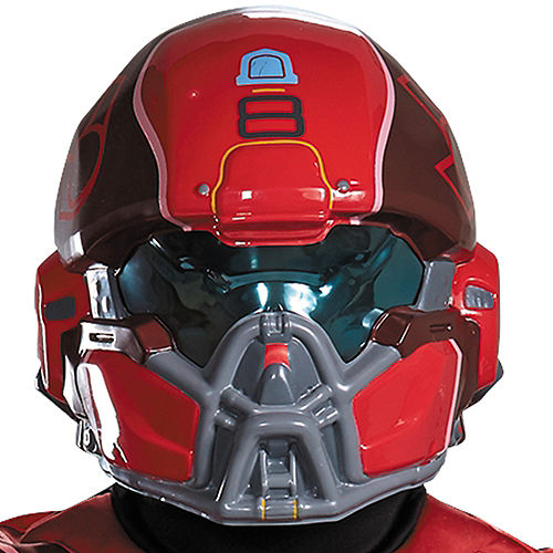 Adult Red Spartan Muscle Costume Plus Size - Halo Image #2